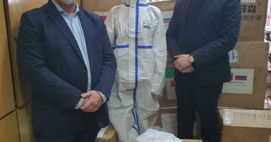 Илиан Тодоров раздаде дарените от Китай предпазни маски на полицията и жителите на 7-ми квартал в Самоков