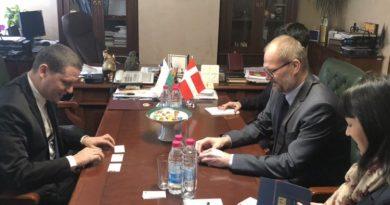Областният управител Илиан Тодоров се срещна с посланика на  Кралство Дания Н.Пр. Сьорен Якобсен